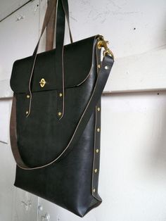Tall black diplomat bag
