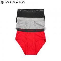 [ 25% OFF ] Giordano Men Underwear Basic Cotton Soft Male Underwear 3Pcs Sous Vetement Homme Ropa Interior Hombre Calzoncillos Marcas