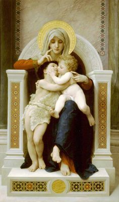 William Adolphe Bouguereau - Jesus and John the Baptist