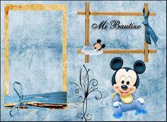 Invitaciones De Bautizo Para Imprimir con micky mouse | miren amiguitas ya hace…