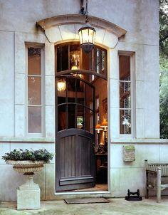 french cottage door by mcalpine tankersley entrance-doors Door Entryway, Entrance Doors, Doorway, Front Doors, Main Entrance, Grand Entrance, Front Entry, Split Entry, Exterior Design