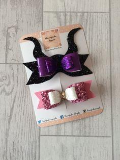 Disney hair bows - hair bows for girls - hair clips for girls - hair bows by BowspokeAngels on Etsy