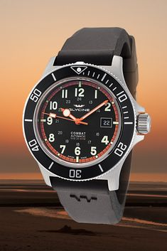 Glycine Combat Sub 42 - Swiss movement, water resistant Glycine Combat, Automatic Watches For Men, 200m, Fit, Water, Watch, Gripe Water, Shape