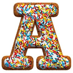 HANDMADEFONTS | Gingerbread colors font letter A. Christmas alphabet and typography.