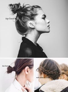 6 WAYS TO STYLE YOUR HAIR WHEN YOU HAVE NO TIME #hair