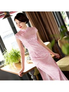2017 Autumn New Style Real Silk Long Cheongsam/Qipao Lace Modified Fashion Slim Plus Size One-piece Dress Wholesale Fairy Dress, I Dress, Chinese Clothing Traditional, Outfits Fo, Plus Size One Piece, One Piece Dress, Cheongsam, Embroidery Dress, Latest Dress