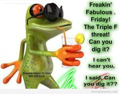 Funny friday quote image with frog Fabulous Friday Quotes, Its Friday Quotes, Friday Humor, Funny Friday, Funny Frogs, Cute Frogs, Keep Calm Love, Frog Quotes, Frog Pictures