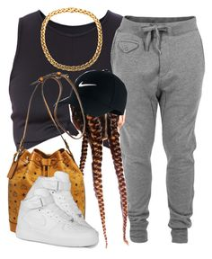 """."" by trillest-queen ❤ liked on Polyvore featuring Diesel, NIKE and MCM"