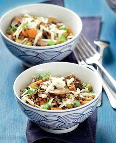 Pohankové rizoto s houbami , Foto: Od pondělí do pátku Healthy Recipes, Healthy Foods, Fresh, Ethnic Recipes, Fit, Health Foods, Shape, Healthy Groceries, Healthy Eating Recipes