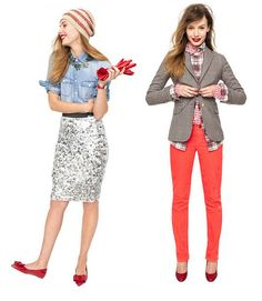just bought those coral pants, perfect outfit, need to find a cute gray blazer now