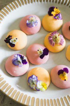 Edible flower cookies.