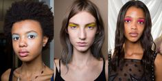 Flashes of bright matte shadow applied across the entire lid infused Giambattista Valli's younger sister line with pop and playfulness.