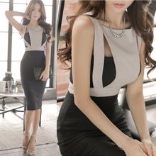 Nuevo 2016 Verano de Las Mujeres Elegantes Ropa de Trabajo de Oficina OL Delgado lápiz Vestidos de Dama Mangas Fuera del Hombro Sexy Vestido Vestidos D178(China (Mainland))