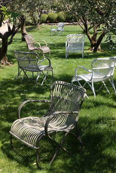 Antique garden furniture
