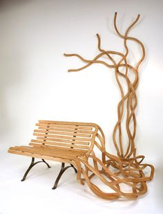 Wooden Spaghetti Bench - Pablo Reinoso
