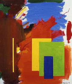 """Hans Hoffman """"Autumn Chill and Sun (M-958)"""" 1962 Oil on canvas 60 x 52 in. 152.4 x 132.1 cm"""