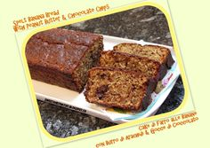 Spelt Banana Bread with Peanut Butter and Multicolored Chocolate Chips