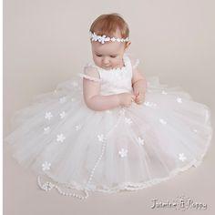 Flower girl dress baptism dress christening dress baby