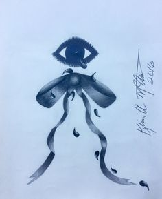 Abstract Pencil Drawing of Tears Coming from the Eye onto a Tilted Bow, 14 X Signed Abstract Pencil Drawings, Bows, Beautiful, Art, Bowties, Bow, Kunst, Ribbon, Arches