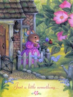 Happy Birthday by Susan Wheeler Holly Pond Hill Susan Wheeler, Bunny Art, Cute Bunny, Art And Illustration, Beatrix Potter, Woodland Creatures, Cute Art, Illustrators, Cute Pictures