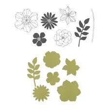 stampin up secret garden framelits -