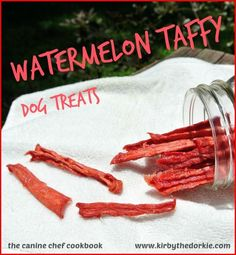Watermelon #Dog Taffy Treats #Recipe - Nothing says summer like the delicious hydrating taste of a cool watermelon!