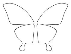 Butterfly wings pattern. Use the printable outline for crafts, creating stencils, scrapbooking, and more. Free PDF template to download and print at http://patternuniverse.com/download/butterfly-wings-pattern/