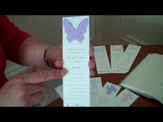 Share these forget-me-not seed bookmarks that are not only eco-friendly, but bloom forget-me-not flowers when the seed paper shapes are planted in soil.  The bookmark is personalized with a dedication and poem.  Comes in butterfly, heart and cross. $1.65 in quantity of 100. http://www.nextgenmemorials.com/seedbookmarkbutterfly.html #funeralgift, #butterflyseedbookmarks