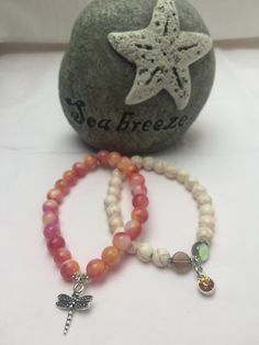 Two Handmade Bracelets for a Cure by Cbeadz on Etsy