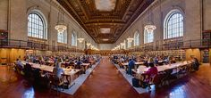 New York Public Library A panoramic view of the Rose Main Reading Room, facing south