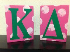 Kappa Delta shelf sitters Greek letters