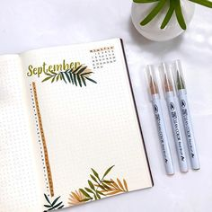 Craft Day Studio by Sasa sur Instagram: 🌴My tropical September monthly page. I'm still keeping this spread simple and straightforward 📒