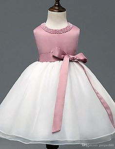 Flower Girls' Dresses Pageant Gowns Formal Dresses A Line Satin Tulle Junior Bridesmaid Dresses Custom 2017 Bridal Flower Cheap Flower Girl Dresses Under 20 From Guoguo888, $32.5| Dhgate.Com