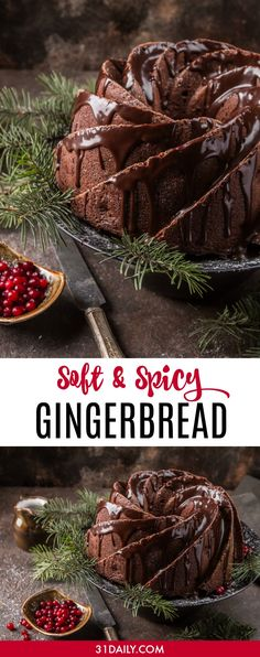 A Soft and Spicy Gingerbread Bundt Cake for the Holidays - 31 Daily Holiday Desserts, Holiday Recipes, Christmas Recipes, Christmas Baking, Food Styling, Cake Recipes, Dessert Recipes, Gingerbread Cake, Gingerbread Recipes