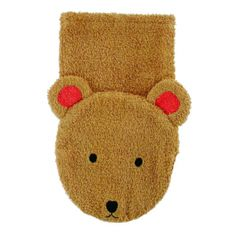 Bear Washcloth Hand Puppet makes bath-time more fun! Made in Europe from 100% Oeko-Tex certified cotton. From Bella Luna Toys.