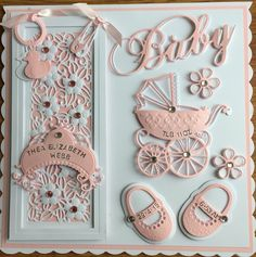 Baby Card by Sospecial Cards   Sue Wilson and Marianne Dies.