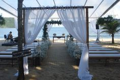 Casamento na praia, pé na areia