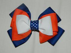 Blue, Orange, n White Bows.