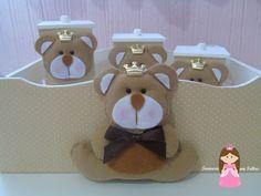 ternura em feltro: Kit Higiene Urso Bege
