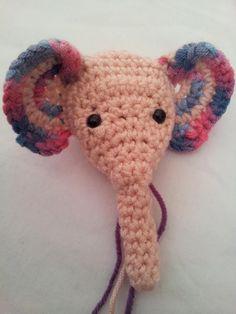 Meimei: Free Baby Elephant Crochet Pattern ⋆ Look At What I Made Crochet Elephant Pattern, Crochet Dolls Free Patterns, Crochet Motif, Crochet Crafts, Crochet Toys, Crochet Baby, Crochet Projects, Crochet Ideas, Easy Crochet Animals