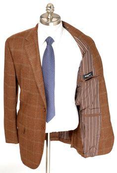 #Plaid on the outside, #striped on the inside. This #Kiton #blazer has it all.  |  Shop Blazers & Sport Coats: http://www.frieschskys.com/blazers  |  #frieschskys #mensfashion #fashion #mensstyle #style #moda #menswear #dapper #stylish #MadeInItaly #Italy #couture #highfashion #designer #shopping