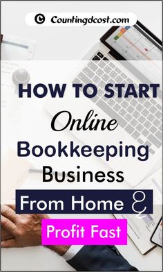 If you have ever thought of being a bookkeeper, this post is a useful guide to starting your own online bookkeeping business. Here, you'll find answers to FAQs and tips on how to set up your business from the comfort of your home. Accounting Help, Small Business Accounting Software, Small Business Bookkeeping, Legal Business, Business Video, Business Education, Online Business, Online Bookkeeping, Bookkeeping And Accounting