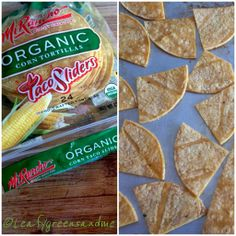 Baked Tortilla Chips for Verde Chilaquiles