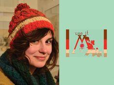 Pure wool braiding and pompom CAKE hat via Etsy