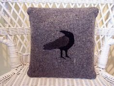 A small shop with pillows,wall hangings and framed art made from recycled woolen sweaters and blankets as well as nature-inspired linocut prints. Linocut Prints, Wool Blanket, Raven, Framed Art, Recycling, Throw Pillows, Grey, Inspiration, Design