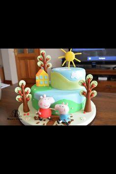 Peppa pig birthday cake - Cake by Marias-cakes