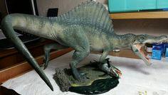 Beautifully crafted model from David, a fantastic Pegasus Hobbies Spinosaurus replica.