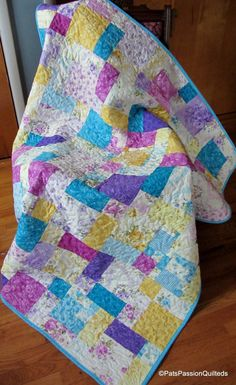 Shabby Chic Quilt Patchwork  Floral Quilt by PatsPassionQuilteds