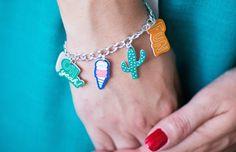 Shrink Plastic Charms Bracelet