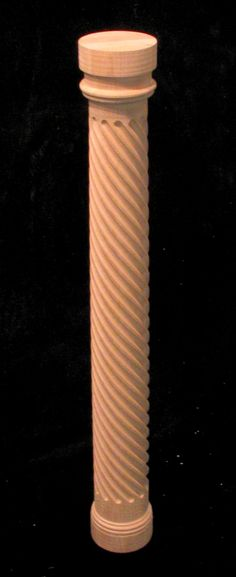 Carved pilaster - twist - full round